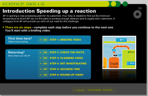 BP Education. Interactive simulation - speed up a reaction