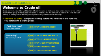 BP Education. Crude Oil and fractional distillation simulation
