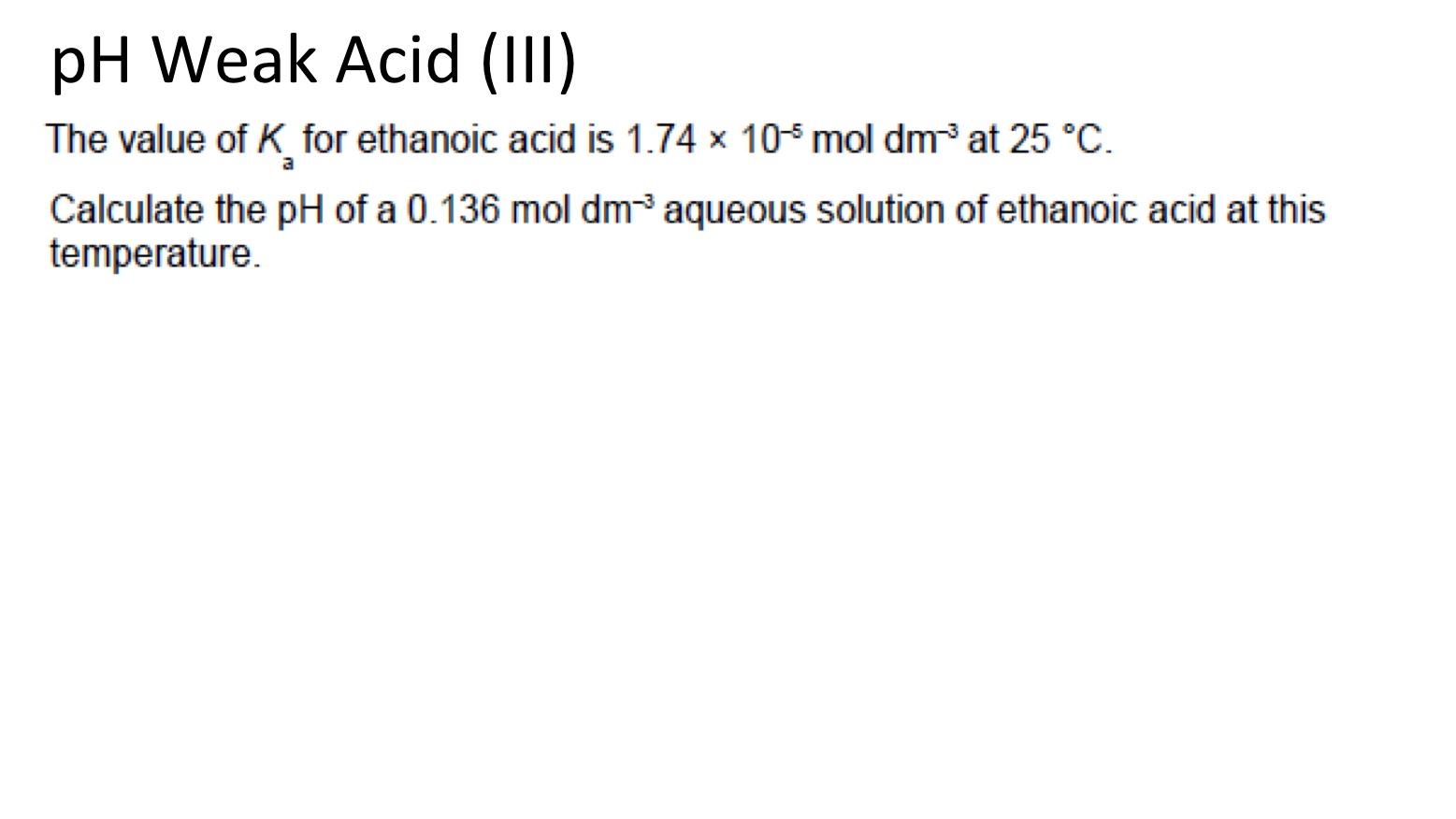 Weak Acids And Bases Ka For Weak Acids Secondary Science 4 All