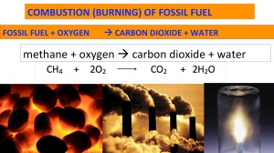 combustion fossil fuel